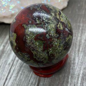 Other - Dragon blood jasper sphere blood stone crystal